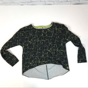 Marc New York  Black Neon Yellow Graphic Shirt L